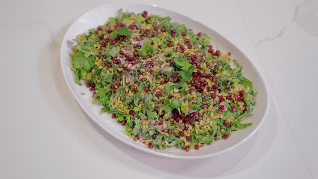 a healthy salad slides into frame - quinoa salad stock videos & royalty-free footage