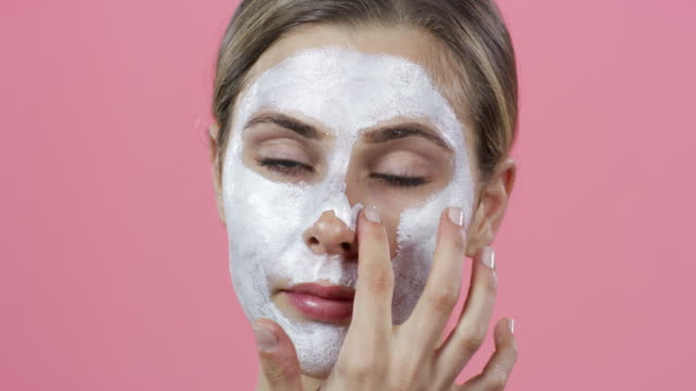 healthy skin loves a good facial - exfoliation stock videos & royalty-free footage