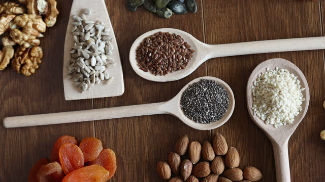 healthy snacks - omega 3 stock videos & royalty-free footage
