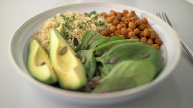 healthy vegan bowl - still life stock videos & royalty-free footage