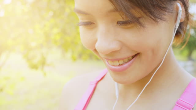 healthy women running outdoors in park - interval start stock videos & royalty-free footage