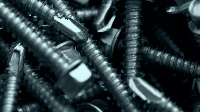 Heap of long screws