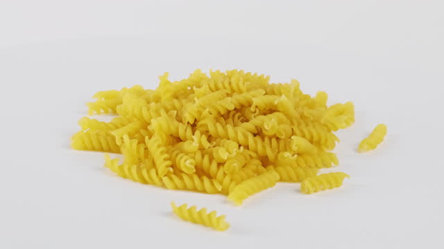 heap of rotating pasta - spiral stock videos & royalty-free footage