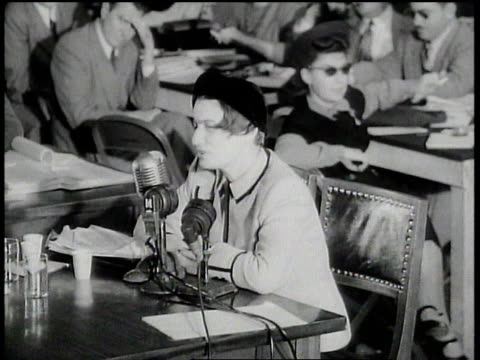 huac hearing ayn rand talking about what it was like to live in ussr / washington dc united states - house committee on unamerican activities stock videos & royalty-free footage