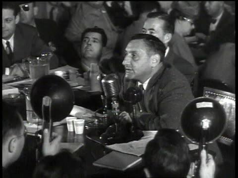HUAC hearing with John Howard Lawson / Washington DC United States