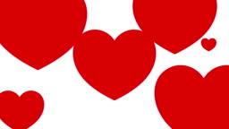 Heart background Animation.