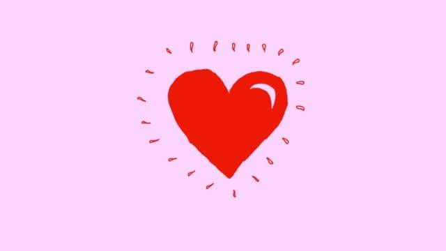 vídeos y material grabado en eventos de stock de animación de latido del corazón v1 rosa - ilustración