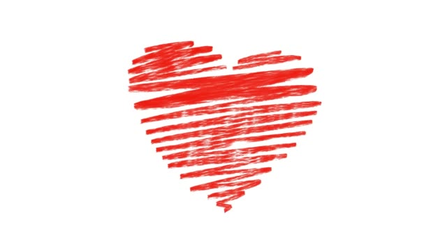 heart beat animation v1 red orginal - pulsating stock videos & royalty-free footage