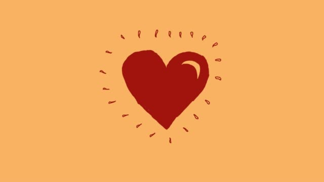 heart beat animation v1 yellow - pulsating stock videos & royalty-free footage