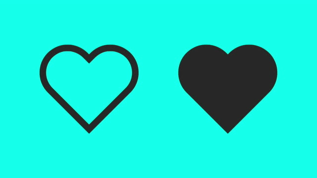 heart beat - vector animate - outline stock videos & royalty-free footage