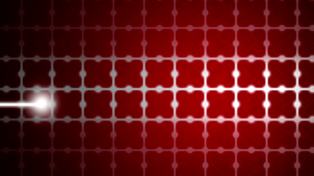 heart beat wave on red background - drill bit stock videos and b-roll footage