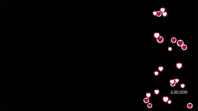 vidéos et rushes de icône du cœur avec alpha - émoticon