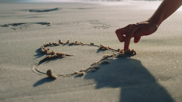 heart in the sand - sand stock videos & royalty-free footage