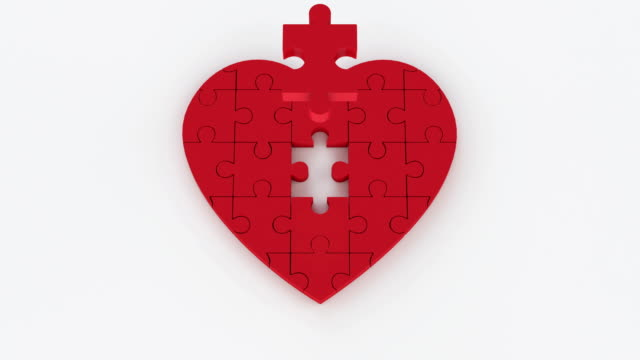 heart jigsaw - pulsating energy stock videos and b-roll footage