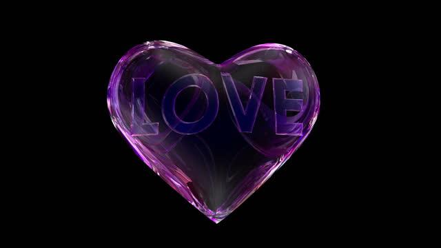 vídeos de stock, filmes e b-roll de heart love 4k loop - psychedelic