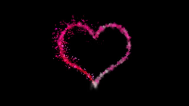 heart made of pink smoke front view - heart stock videos and b-roll footage
