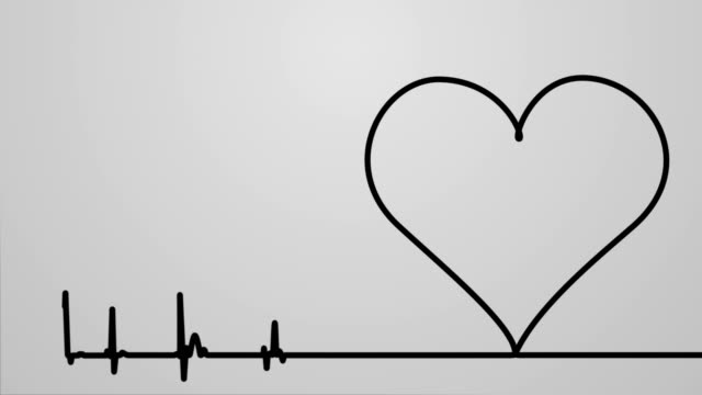 heart monitor - line art video stock e b–roll