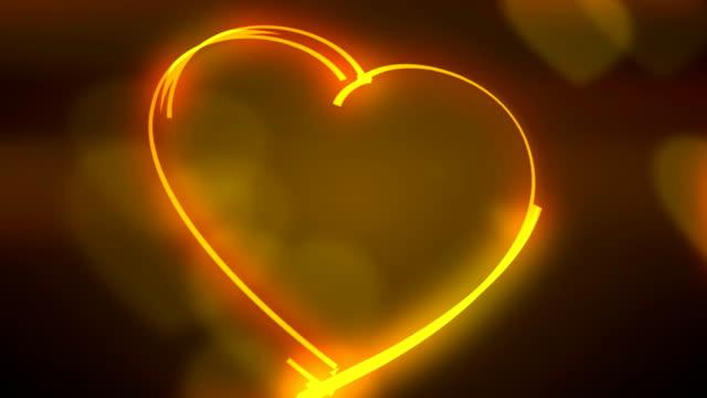 Coeur de fond bouclables lignes