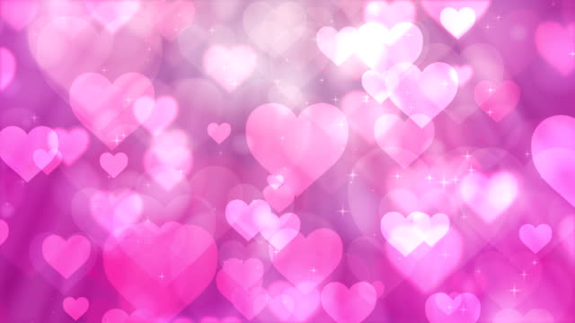 heart particles on pink background - image stock videos & royalty-free footage