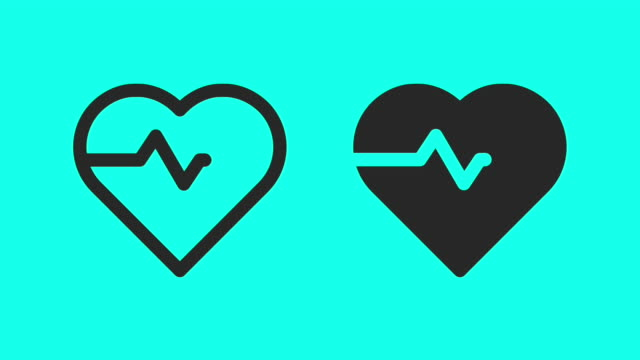 heart pulse - vector animate - listening to heartbeat stock videos & royalty-free footage