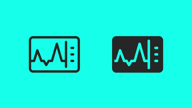Heart Rate Monitor Icons - Vector Animate