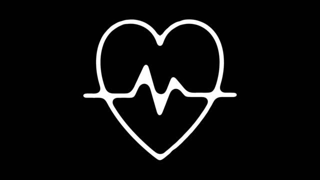 stockvideo's en b-roll-footage met hartslag monitor lijn pictogram animatie met alpha - medische röntgenfoto