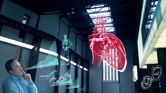 heart research lab - biomedical illustration stock videos & royalty-free footage