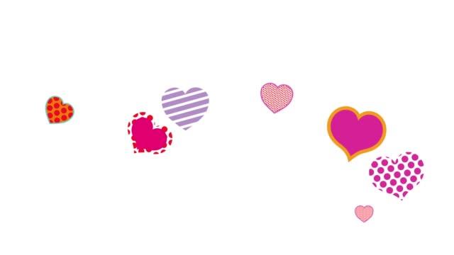 vídeos y material grabado en eventos de stock de fondo de animación de forma de corazón - tarjeta del día de san valentín