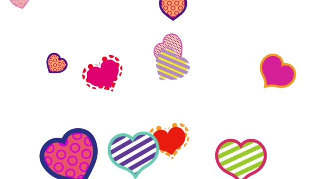heart shape animation background - pixellated stock videos & royalty-free footage