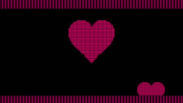 heart shape animation - pixellated stock videos & royalty-free footage