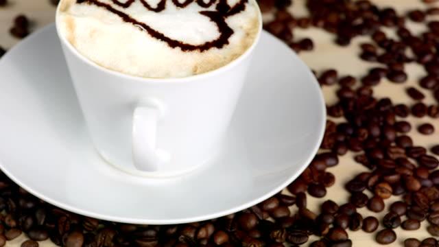 HD: Heart Shape Design Layered On Cappuccino