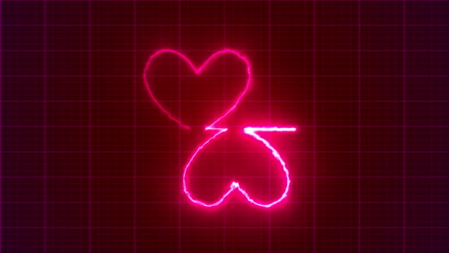 heart shape pulse trace, loop animation, valentine's day - oxygen stock videos and b-roll footage