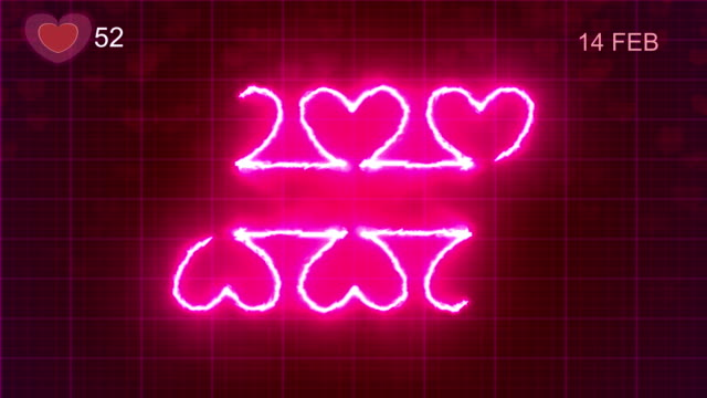 heart shape pulse trace, valentine's day - pulse oxymeter stock videos and b-roll footage