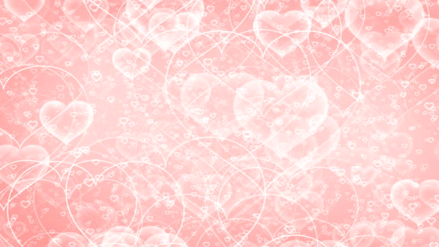 Heart shapes animation background loop