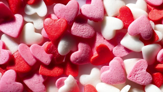 heart sprinkles - icing stock videos and b-roll footage