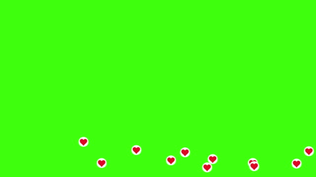 heart symbol come flying accross the green screen - computer monitor icon stock videos & royalty-free footage