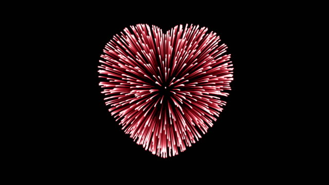 heart - valentine's concept - firework display stock videos & royalty-free footage