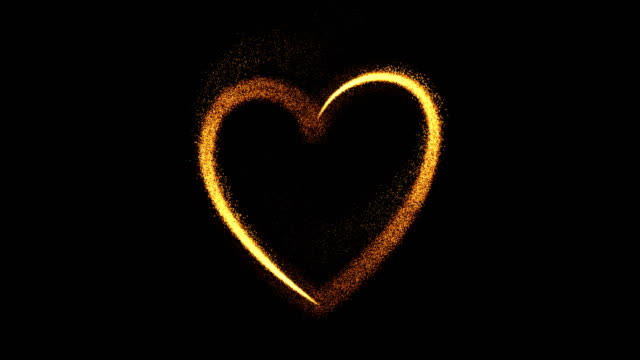 herz - valentinstag konzept (loop 4k + alpha) - gold colored stock-videos und b-roll-filmmaterial