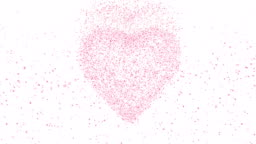 Heart with pink petals.