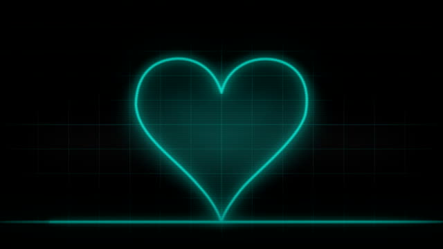 Battement de coeur de moniteur, coeur, seamless loop