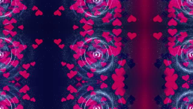 vídeos y material grabado en eventos de stock de corazón y galaxia - aumento digital
