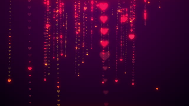 (Loopable) Hearts as background, Valentines day concept.