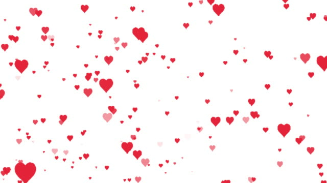 hearts background - looping - heart stock videos & royalty-free footage