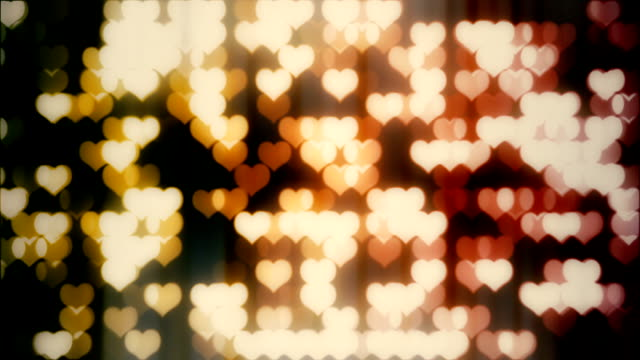 hearts background shiny animation loop - valentines background stock videos & royalty-free footage