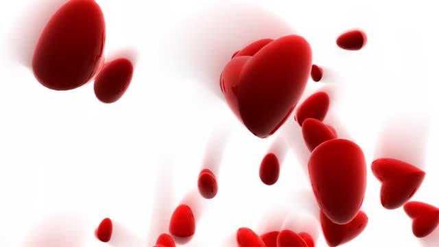 hearts bouncing - bouncing stock videos & royalty-free footage