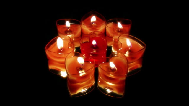 hearts candles - medium group of objects stock videos and b-roll footage