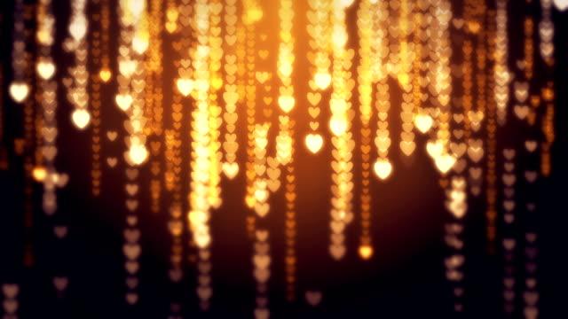 Hearts glitter background loop