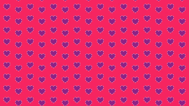 hearts looping background - seamless pattern stock videos & royalty-free footage