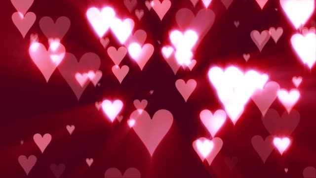Hearts of Love (Pink Background)
