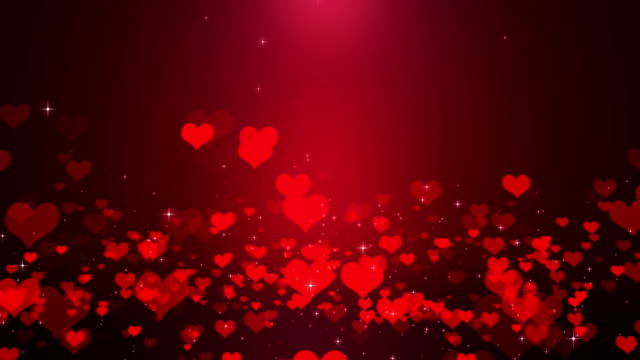 hearts - valentine's concept loopable - valentine's day stock videos & royalty-free footage
